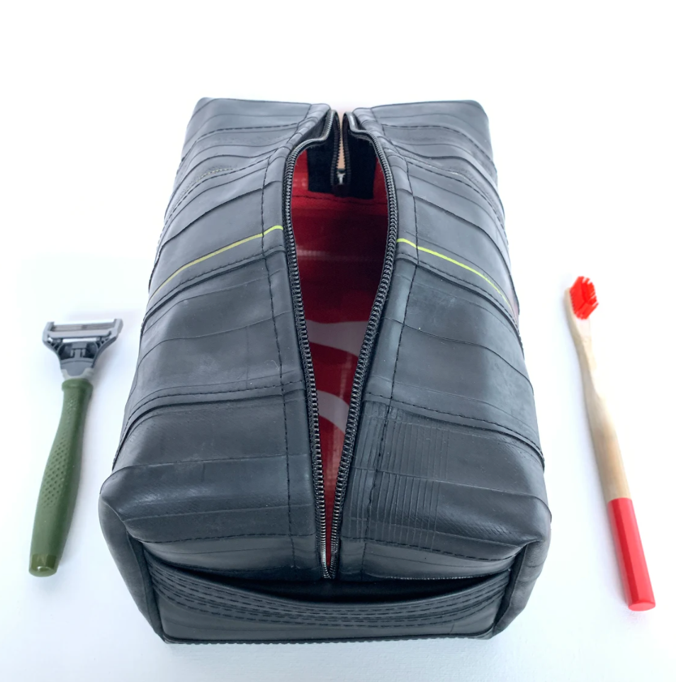 dopp kit from bicycle waste