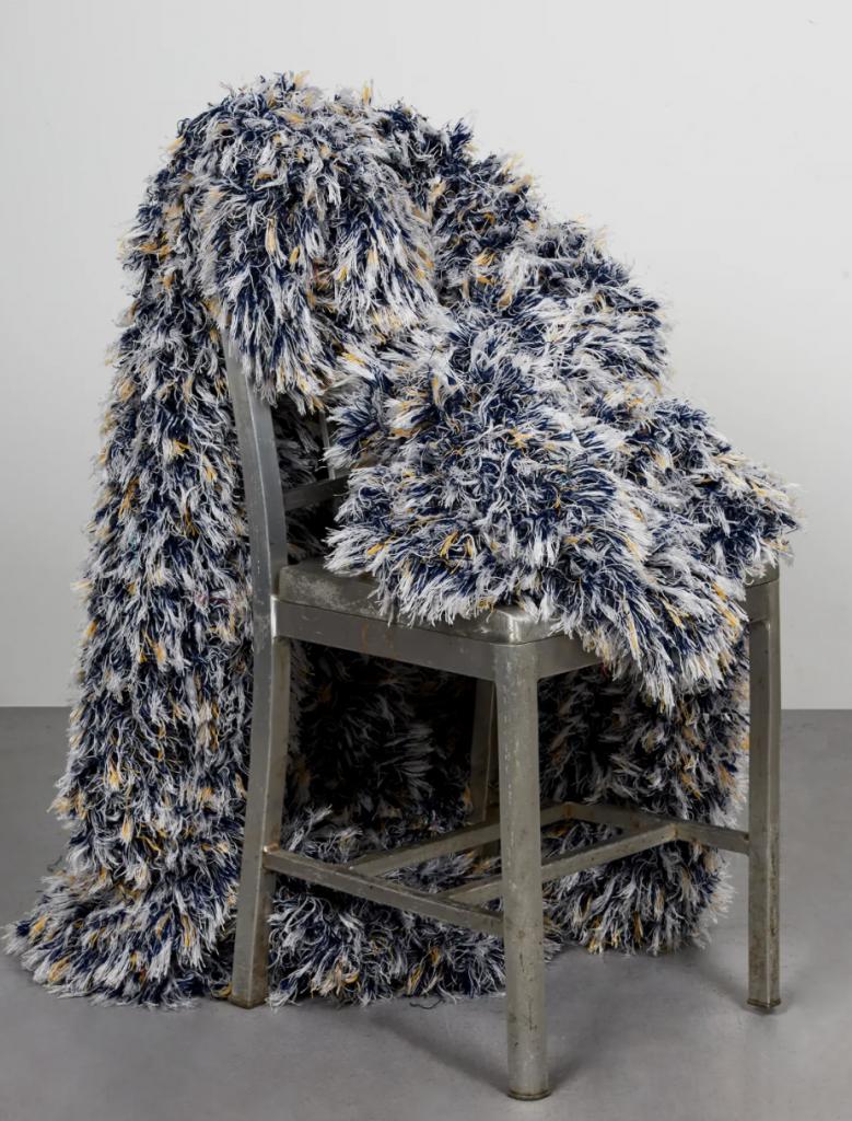 upcycled loom art