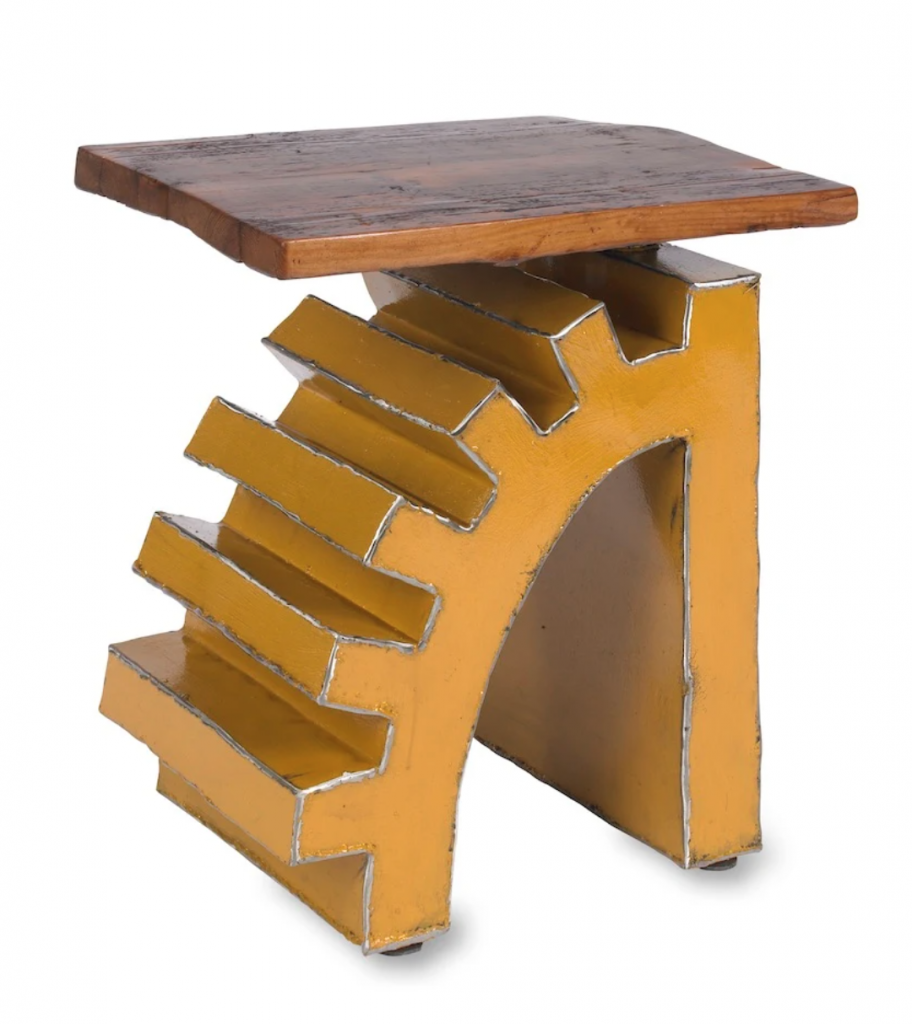 handmade reclaimed steel and barn wood art