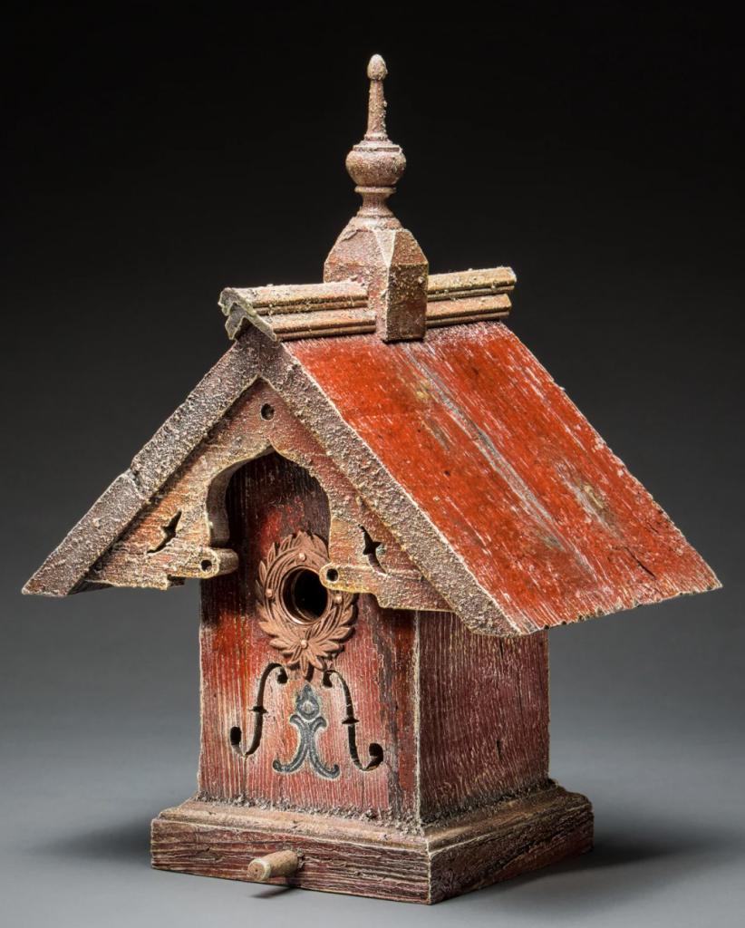 repurposed birdhouse