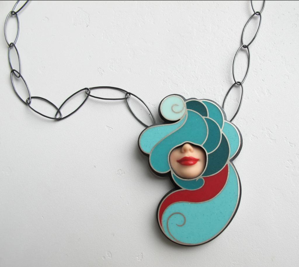 bold blue necklace