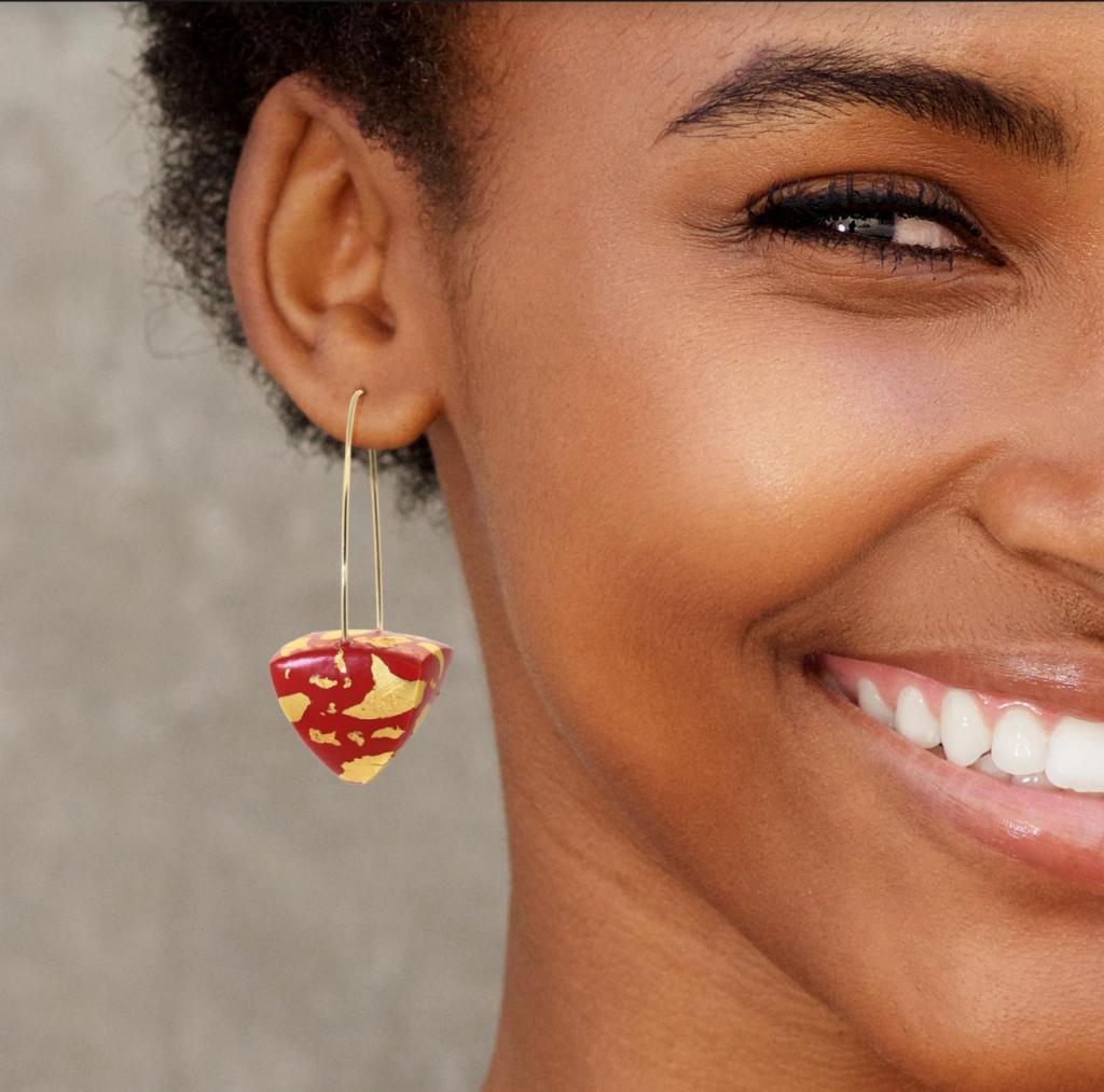 patterned drop earrings