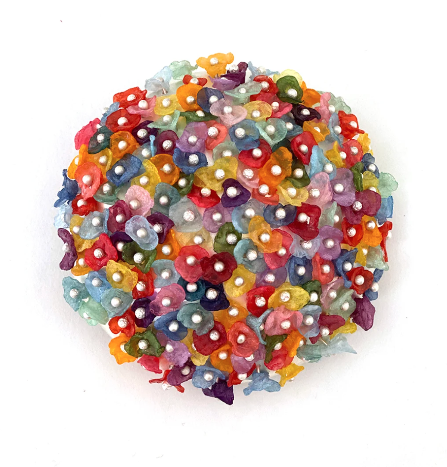 recycled plastic brooch