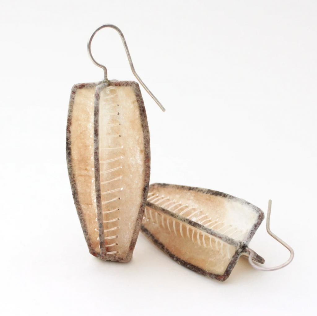 coffee filter earrings