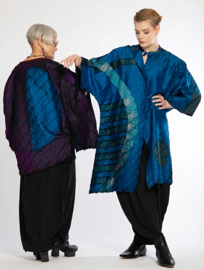 pleated silk jackets