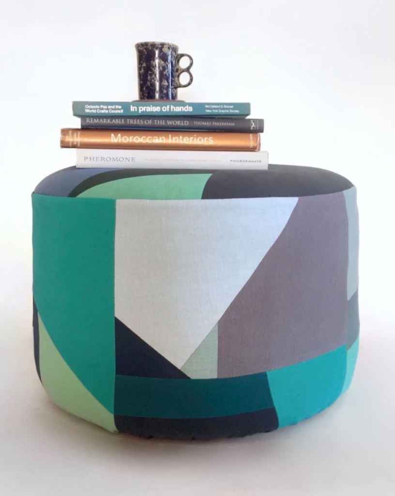 remnant-fabric stool